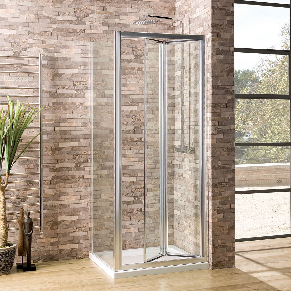 Coral 6mm Bifold Shower Enclosure 1000 X 700mm