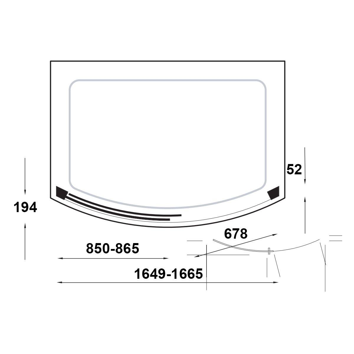 kudosoriginalbowedslidingshowerenclosure1700x700withconcept2showertraydimensions