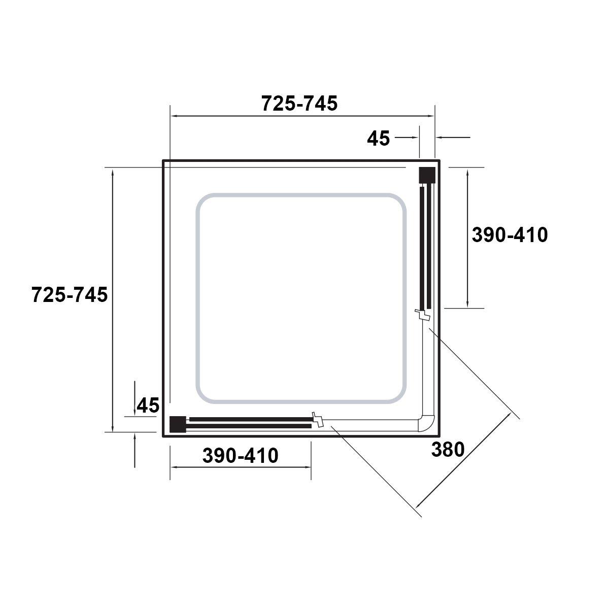 kudosoriginalcornerentryslidingshowerenclosure760x760dimensions