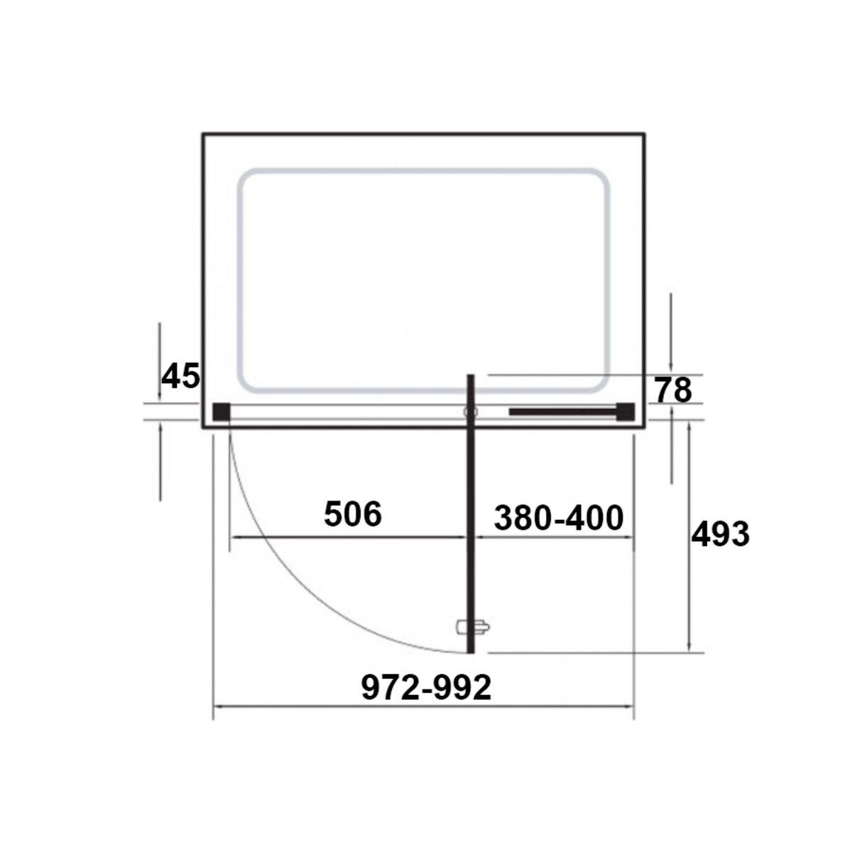 kudosoriginalstraightpivotshowerenclosure1000x700dimensions