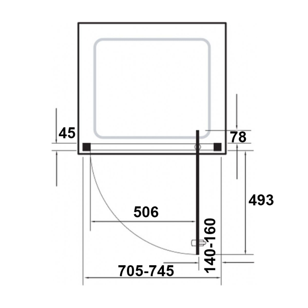 kudosoriginalstraightpivotshowerenclosure760dimensions
