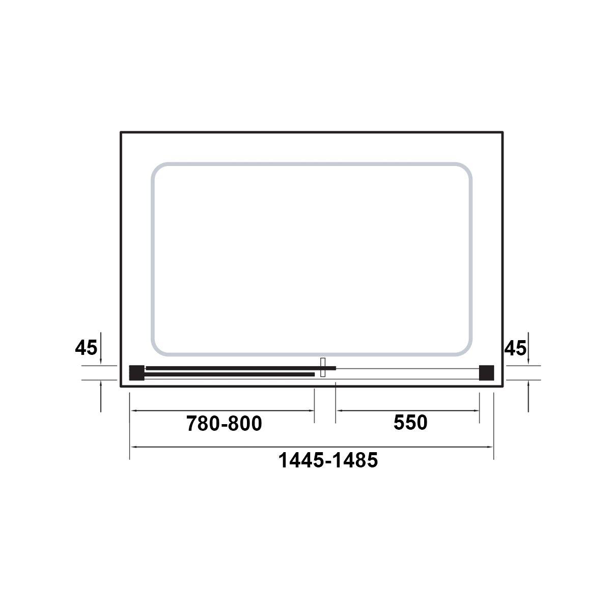 Kudos Original Straight Sliding Shower Enclosure 1500 Dimensions