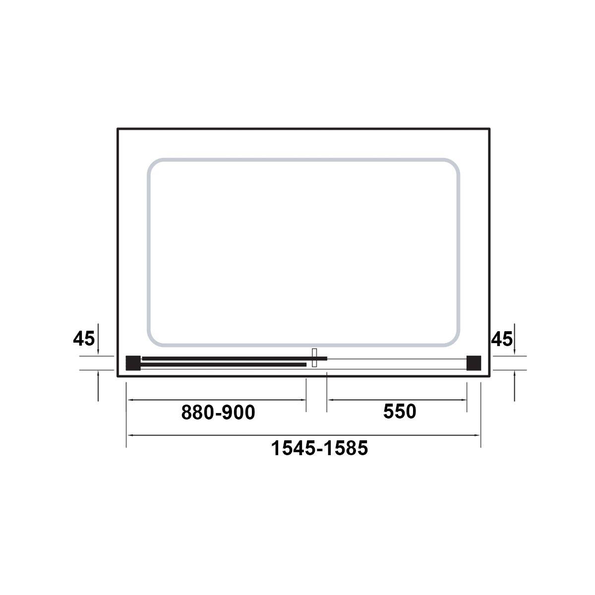 Kudos Original Straight Sliding Shower Enclosure 1600 Dimensions