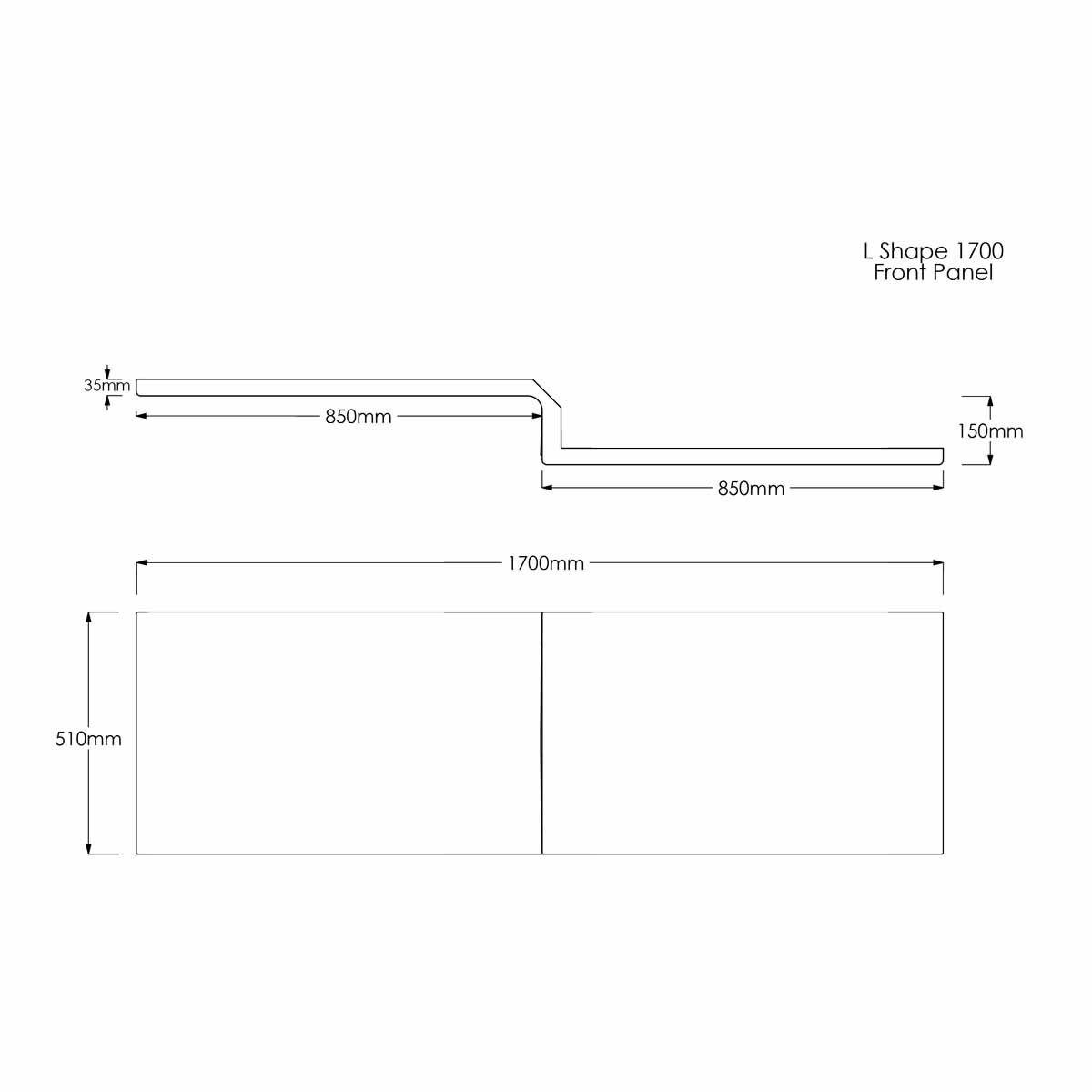 Solarna L Shape Shower Bath Panel Dimensions