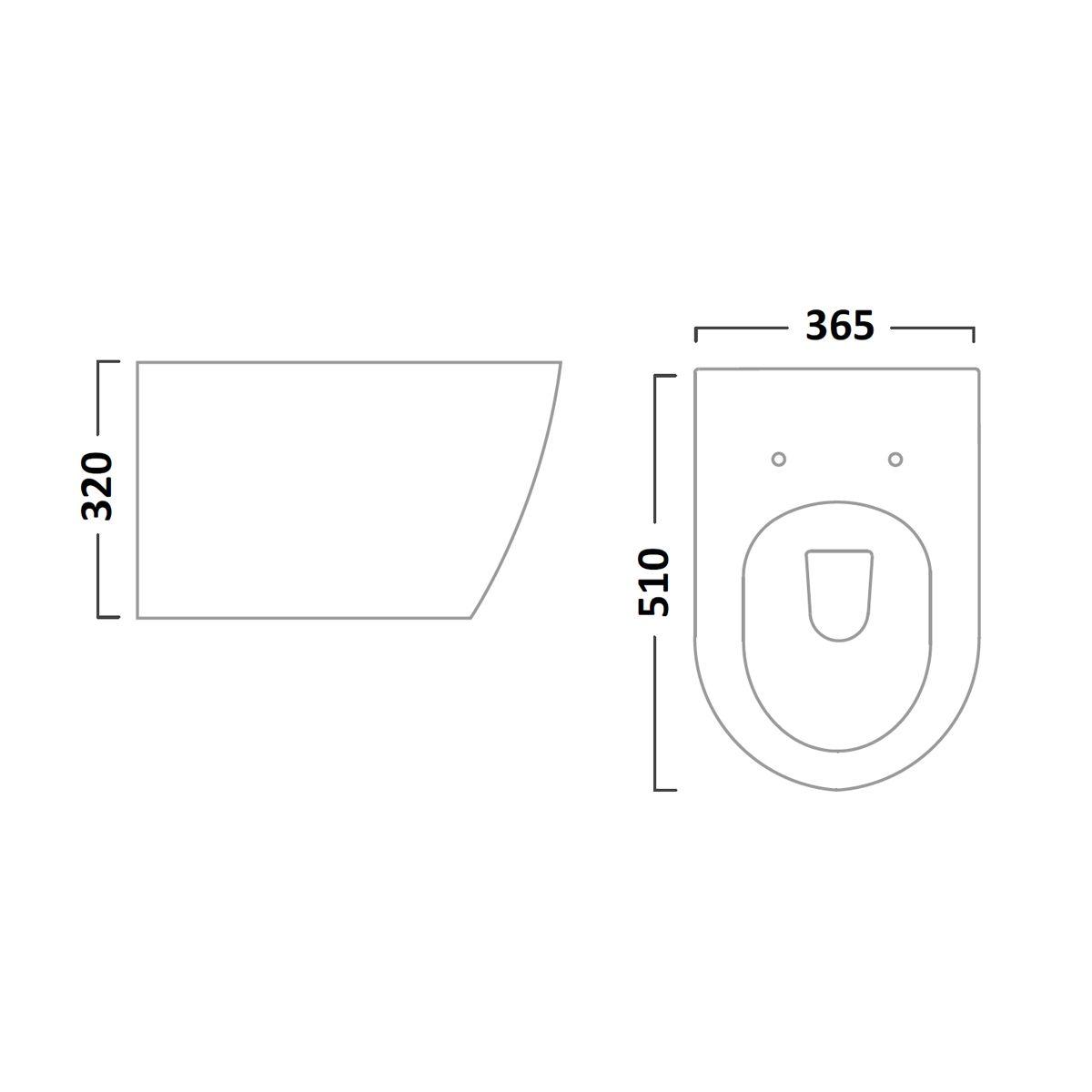 Tavistock Orbit Wall Hung Toilet Soft Close Seat