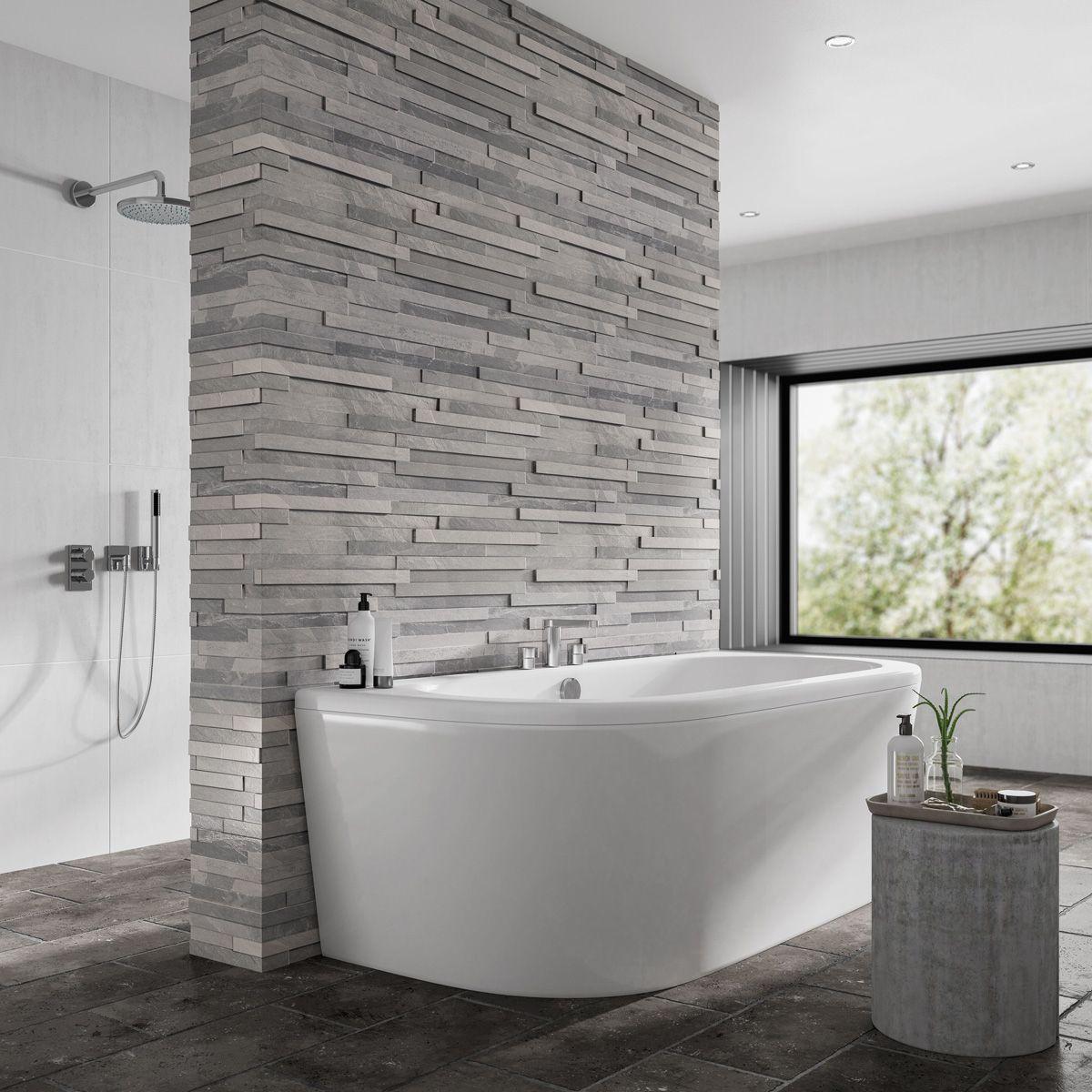 Trojan D Shape Acrylic Bath Panel White 1700 X 800mm
