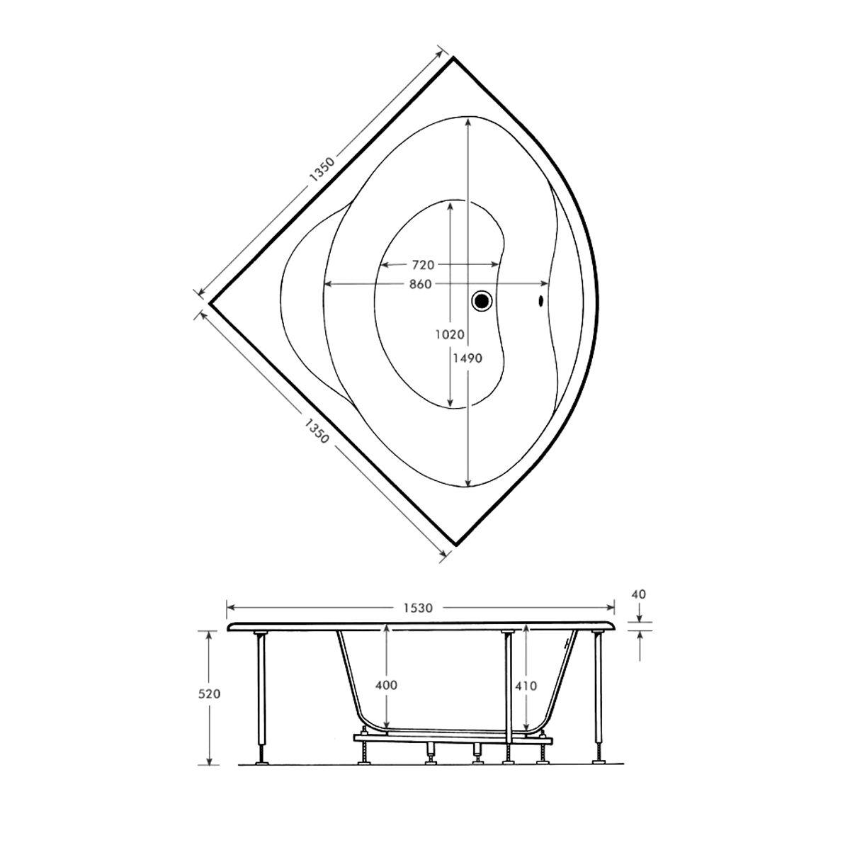 trojanlagunacornerbath1350x1350dimensions1