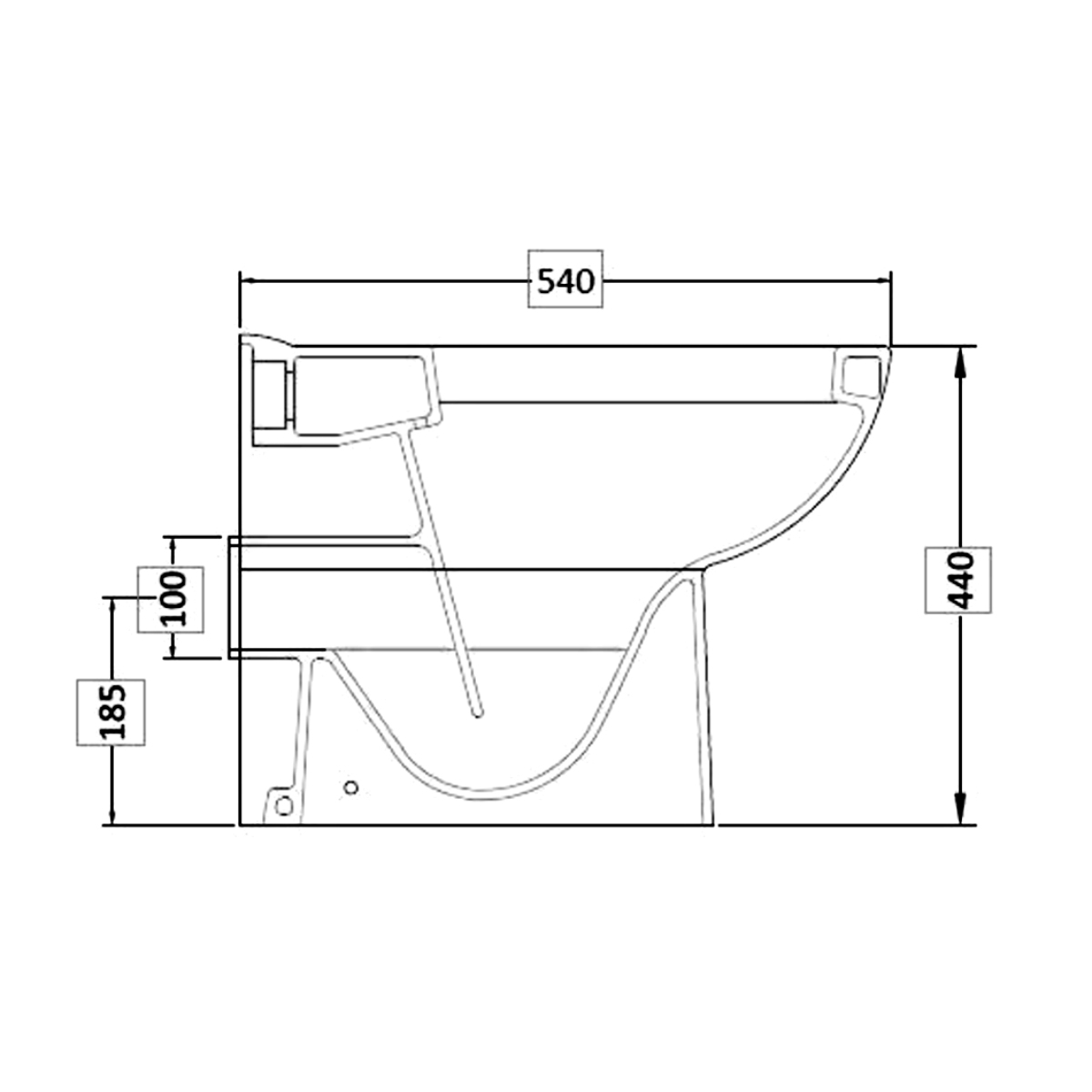 Premier Ivo Comfort Height Back To Wall Toilet With Soft