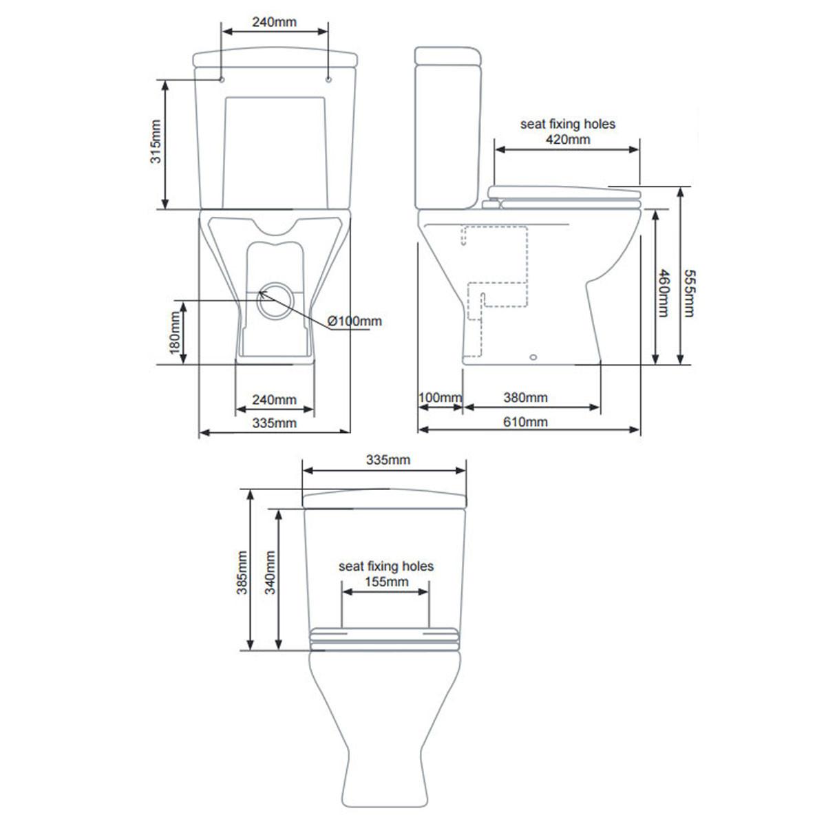 Tavistock Micra Comfort Height Close Coupled Toilet With