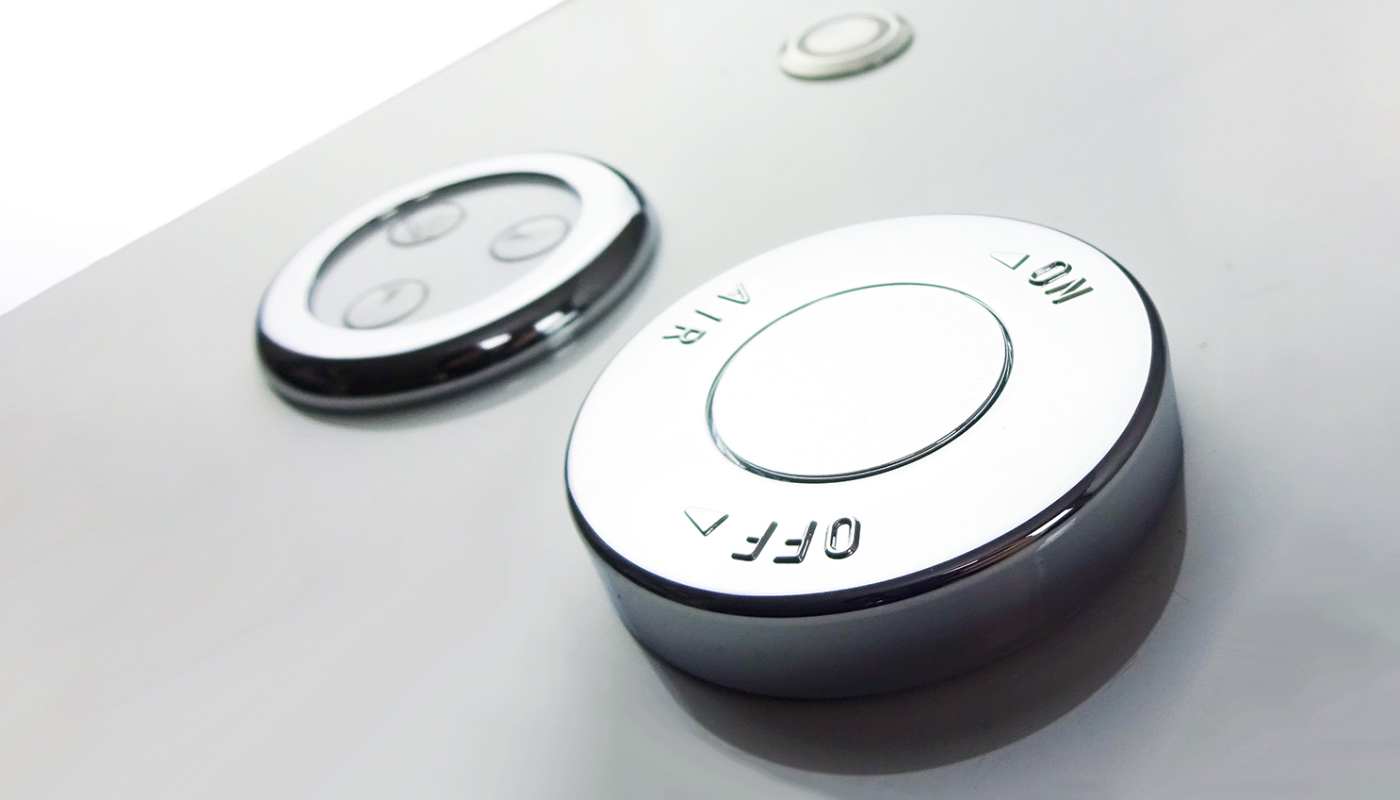 Whirlpool bath controls