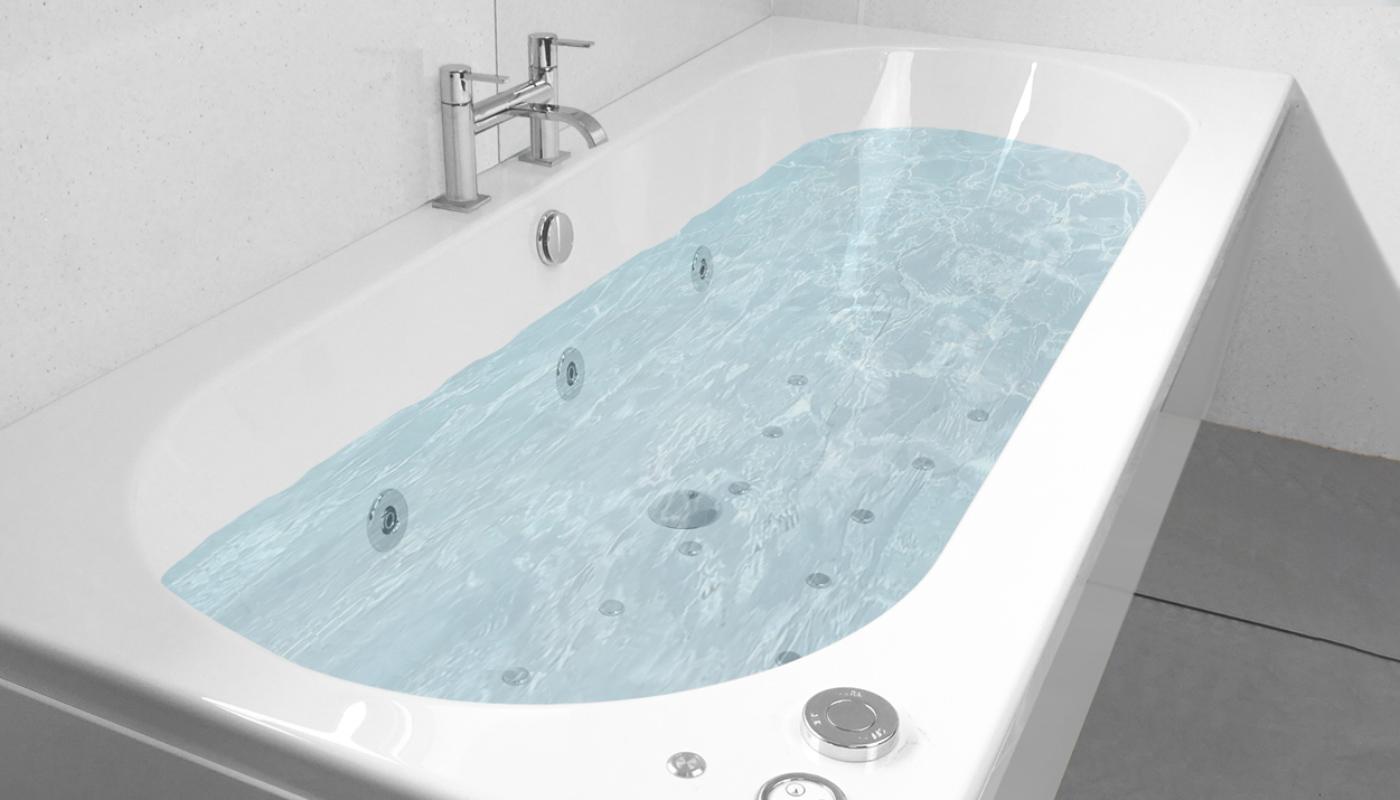 Cascade double end whirlpool bath
