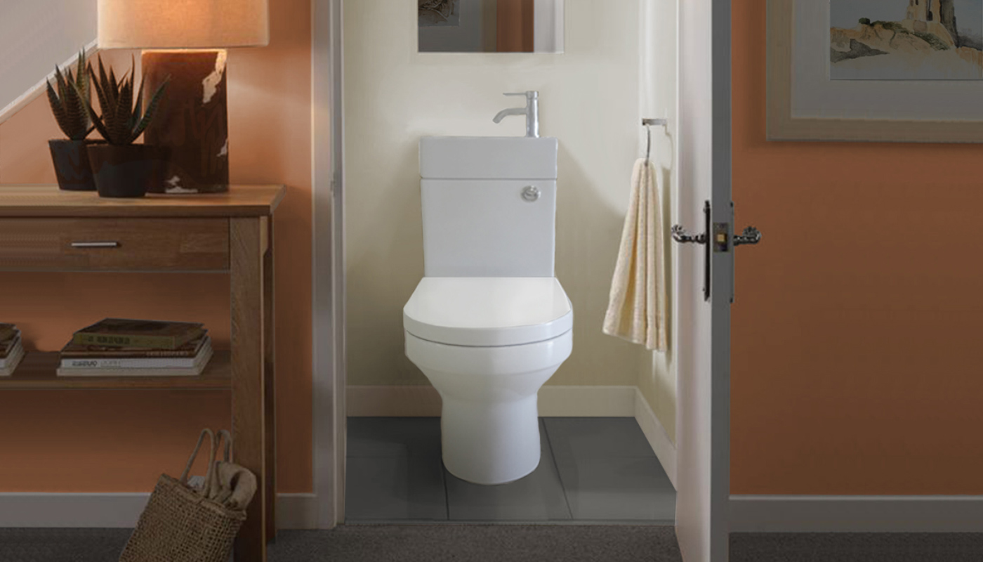 2 in 1 toilet and basin