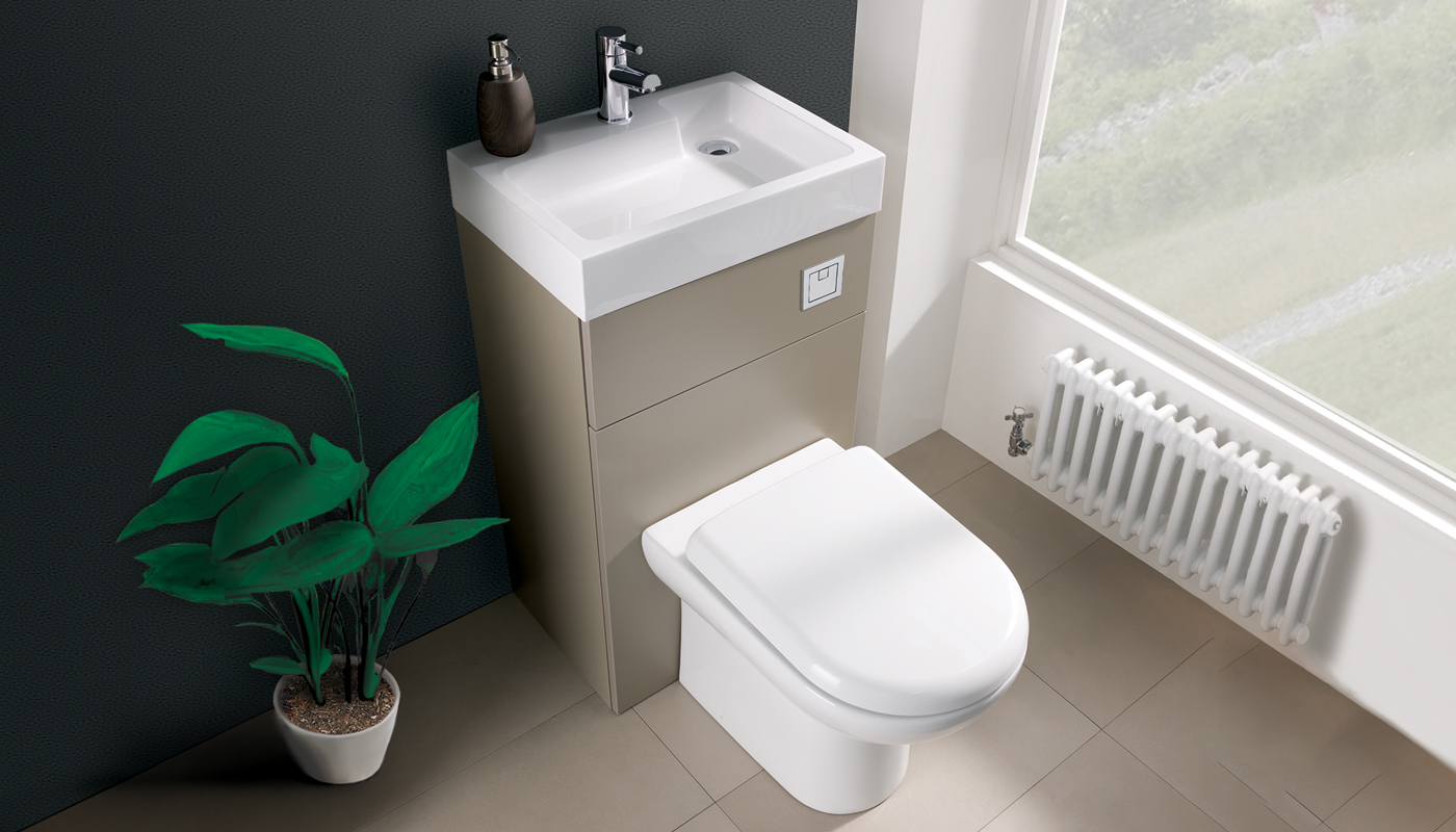 Athena 2 in 1 toilet basin combination