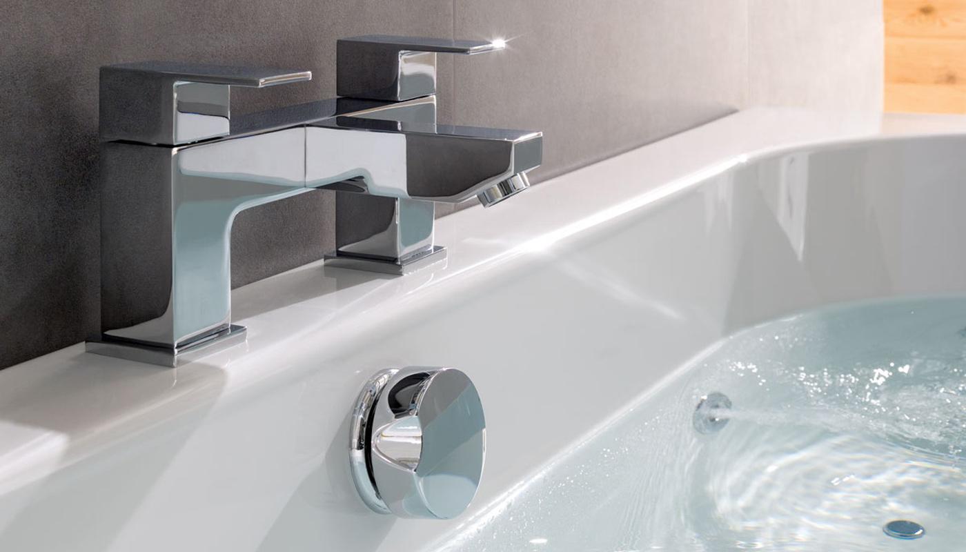 Whirlpool bath jet close up