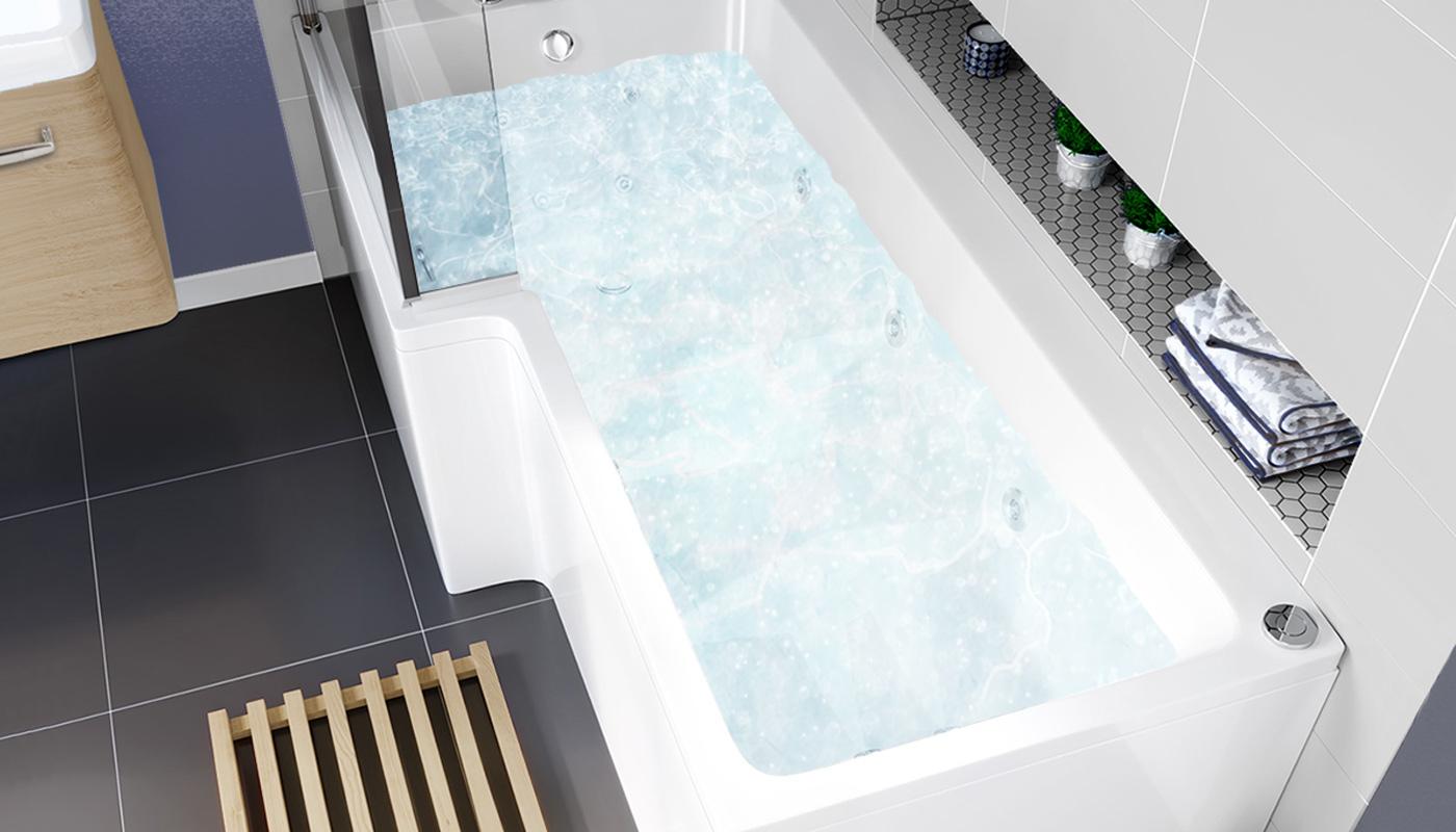 Whirlpool shower bath