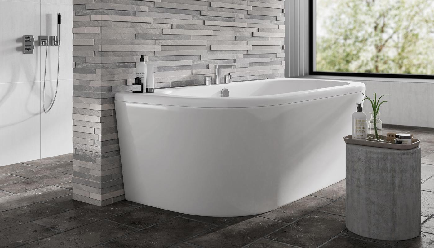 Trojan D Shape Bath