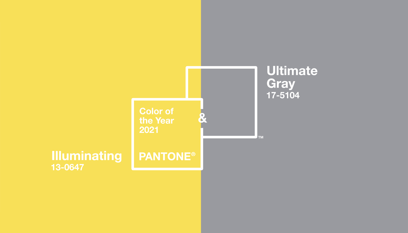 Pantone Colour of the Year 2021 - Illuminating & Ultimate Grey